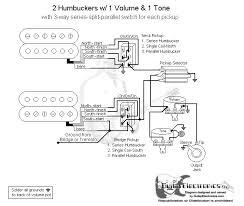 wiring diagram 2 humbuckers 1 tone 1 volume 2 mini switches