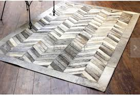 chevron hide rug grey chevron cowhide leather rug anima and amare