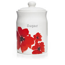 100 red kitchen canisters ceramic the functional glass