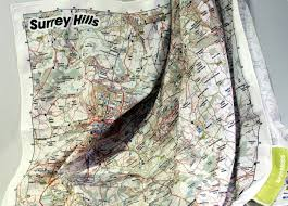 Surrey England Map by Surrey Hills Splashmapssplashmaps