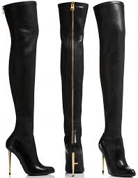 s knee boots on sale grande in tom ford nappa stretch leather metal stilleto