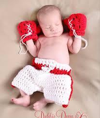 baby boy photo props crochet baby boy girl boxing gloves shorts pant set newborn