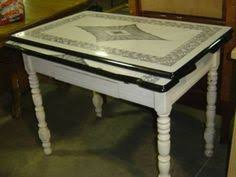 Interesting  Antique Metal Top Kitchen Table Inspiration Of - Vintage metal kitchen table