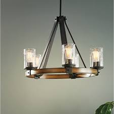 Kichler Lighting Chandeliers Kichler Lighting Barrington Light Distressed Black And Wood Metal