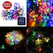qedertek solar string lights qedertek solar string lights 21ft 50 led fairy blossom flower