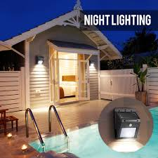 Solar Lights On Fence Posts by Solar Lights Outdoor 20 Led With Motion Sensor Wall Lights Deck