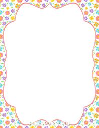 printable spring flower border use the border in microsoft word