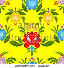 background floral ornament gorodets painting russian traditional
