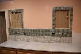 vanity backsplash tiled geeky engineer bathroom tile