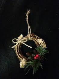 country style snowman wreath ornaments grapevine by paperandmache