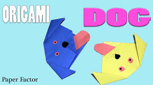 origami for kids how to make a paper dog very easy origami dog