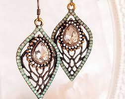 vintage earrings etsy