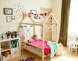 What Is A Montessori Bedroom Frame Bed House Bed Bed House Montessori Nursery Wooden
