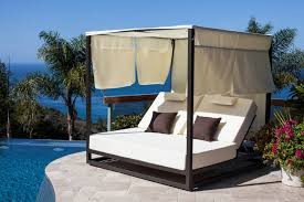 Outdoor Daybed With Canopy Riviera Modern Outdoor Leisure Daybed With Canopy
