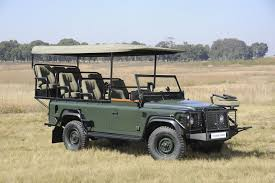 land rover defender safari land rover defender 110 game viewer in the spotlight at this