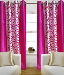 home candy set of 2 door eyelet curtains floral pink buy home