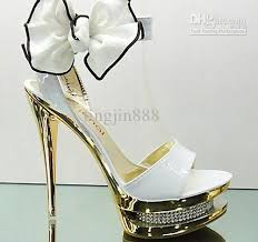 princess wedding shoes 14cm high bows princess wedding shoes crytal platform