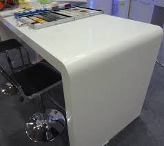 Acrylic Bar Table White Artificial Acrylic Solid Surfac Bar Counter Marble
