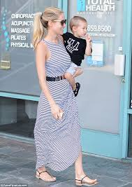 kristin cavallari shows off her post baby figure as she takes son