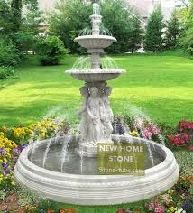 water fountains outdoor gardens figures statues