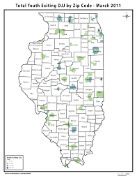 Illinois On A Map by Maps Chicago Youth Justice Data Project