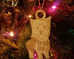 yorkie ornament etsy