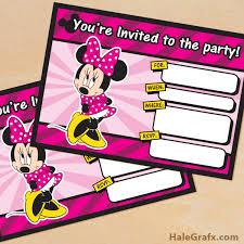 minnie mouse invitation free printables u2013 orderecigsjuice info