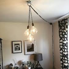 Dining Light Best 25 Plug In Chandelier Ideas On Pinterest Plug In Wall