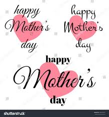 mothers day card happy mothers day card set mothers stock vector 383518345