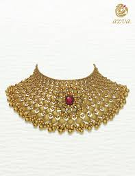 style gold necklace images Gold textured choker with floral medallion goldjewellery luxury jpg