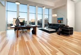 warm lamp modern offices floor plans with wooden floor and black