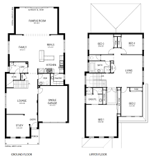 Floor Plan Two Storey House Two Story House Plans Narrow Lots Homes Zone