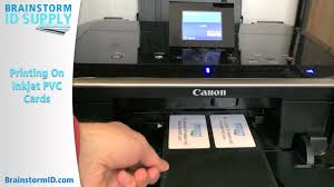 printing on inkjet pvc id cards printing only