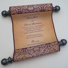 Invitation Cards For Weddings Renaissance Wedding Invitations Elegant Medieval Style Scroll
