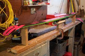diy ski tuning bench cascadian rythym