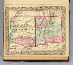 Arizona Map by Arizona New Mexico David Rumsey Historical Map Collection