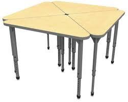 apex series height adjustable student desk triangle 30
