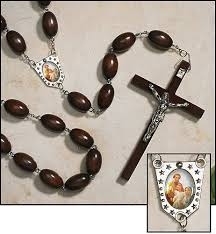 wall rosary unique large wood bead family wall rosary in black or