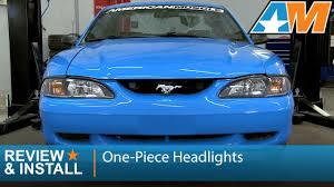 1994 mustang gt headlights 1994 1998 mustang one black headlights review install