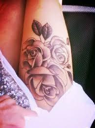flowers thigh tattooed tattoos thigh tattoos