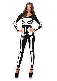 How To Make A Skeleton Costume For Halloween by Amazon Com Leg Avenue Women U0027s Spandex Printed Glow In The Dark