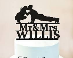 army wedding cake toppers army cake topper etsy