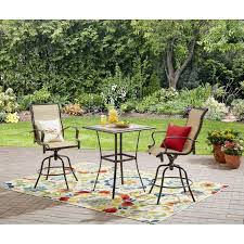 Patio Furniture From Walmart by Mainstays Wesley Creek 3 Piece Bar Set Walmart Com