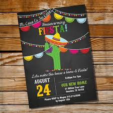 mexican fiesta housewarming invitation housewarming party