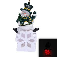 green bay packers snowman led ornament nflshop