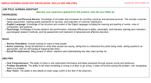 Resume Of Nursing Assistant Nursing Assistant Federal Resume Ksa