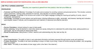 ksa resume examples nursing assistant federal resume ksa