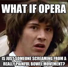 Opera Meme - what if opera is just someone screaming from a really painful
