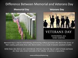 difference between memorial and veterans day 3