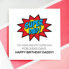 personalised super dad birthday card by rabal notonthehighstreet com